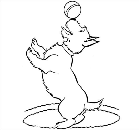 playing scottie dog template