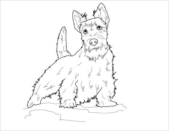 scottie dog printable template