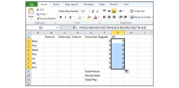 how to create a timesheet in excel  u2013 tutorial