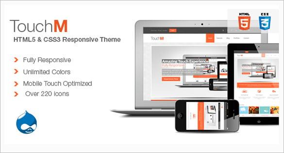 responsive html5 css3 drupal theme