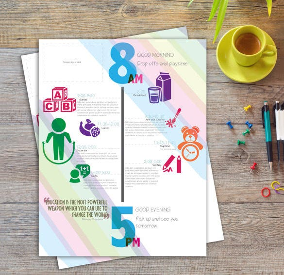 editable colorful time babdy schedule template download