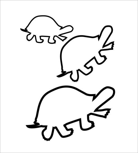 turtle design coloring template