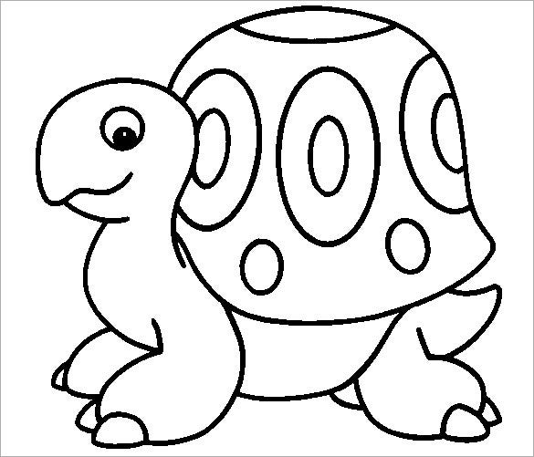 turtle smiley coloring template