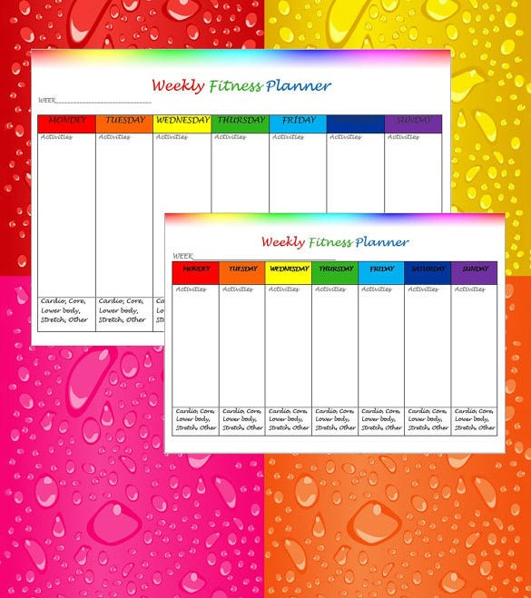 Download Weekly Exercise Fitness Health Schedule Template