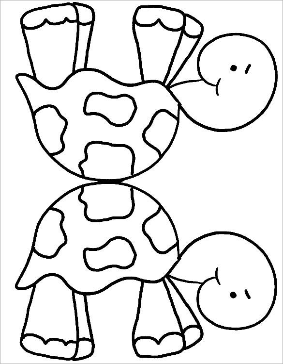 twin turtle coloring template