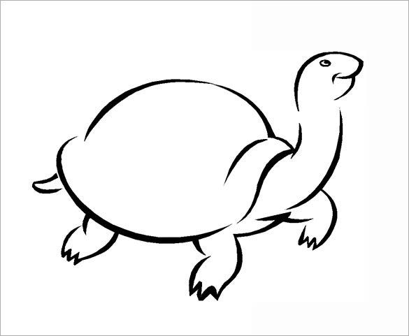 giant turtle coloring template