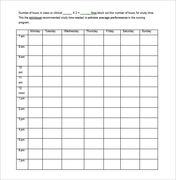 Nursing Schedule Template 8 Free Sample Example Format – Shift Report Template