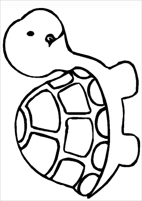 hungry turtle coloring template