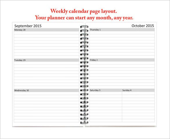 Teacher Schedule Template – 9+ Free Sample, Example Format ...