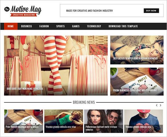faminine motive mag blogger template