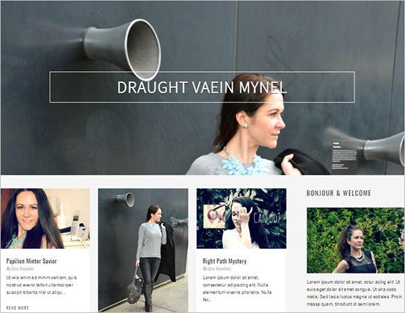 vanesa clean and elegant blog theme