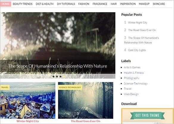 loveria feminine blogger template