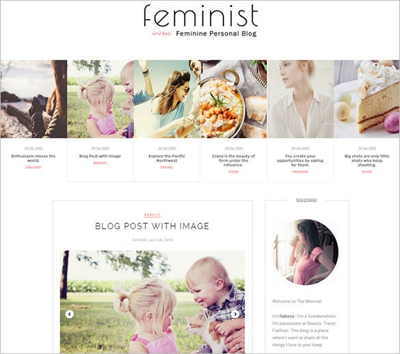 feminist blogger template for you