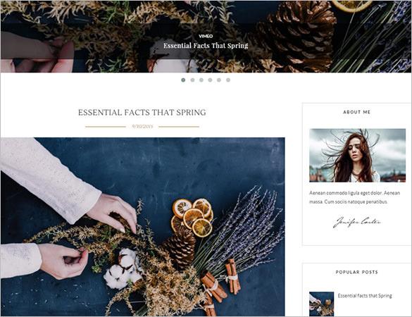 simplart feminine blogger template