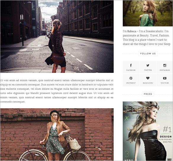 elegant feminine blogger template
