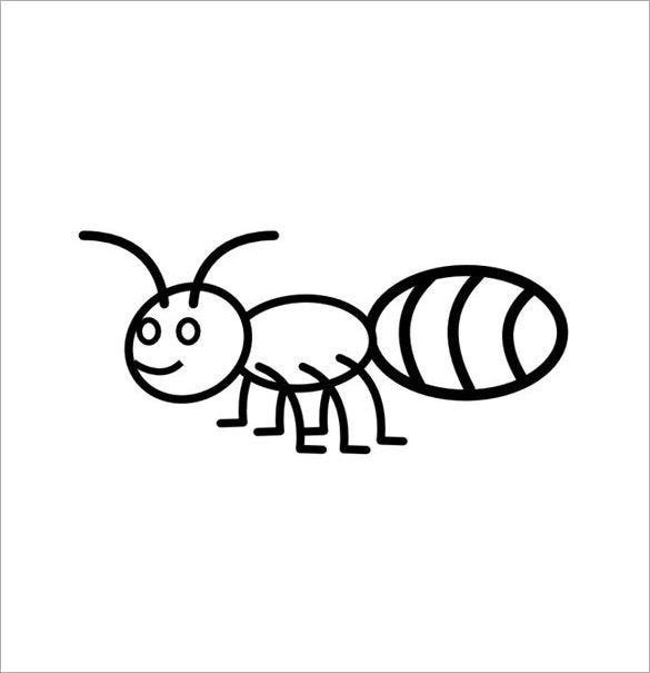 happy ant coloring template