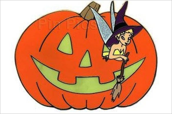 cartoon tinkerbell pumpkin template