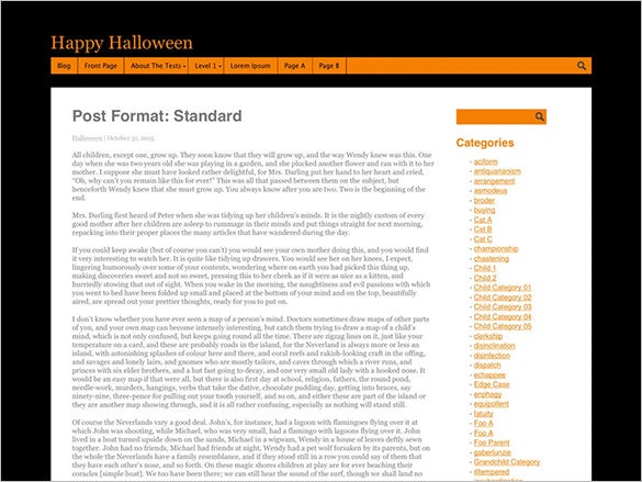halloween wordpress template for you