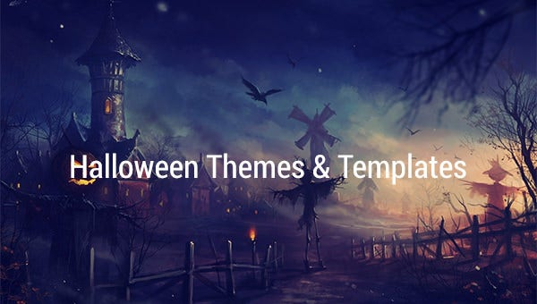 halloween themes templates