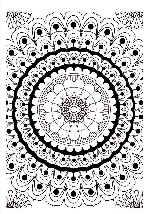 mandala coloring template