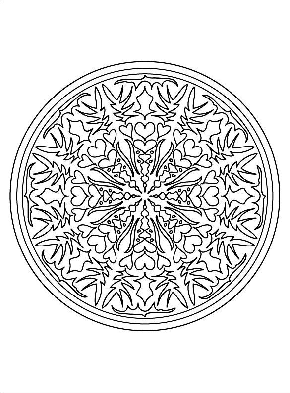 circular mandala coloring page