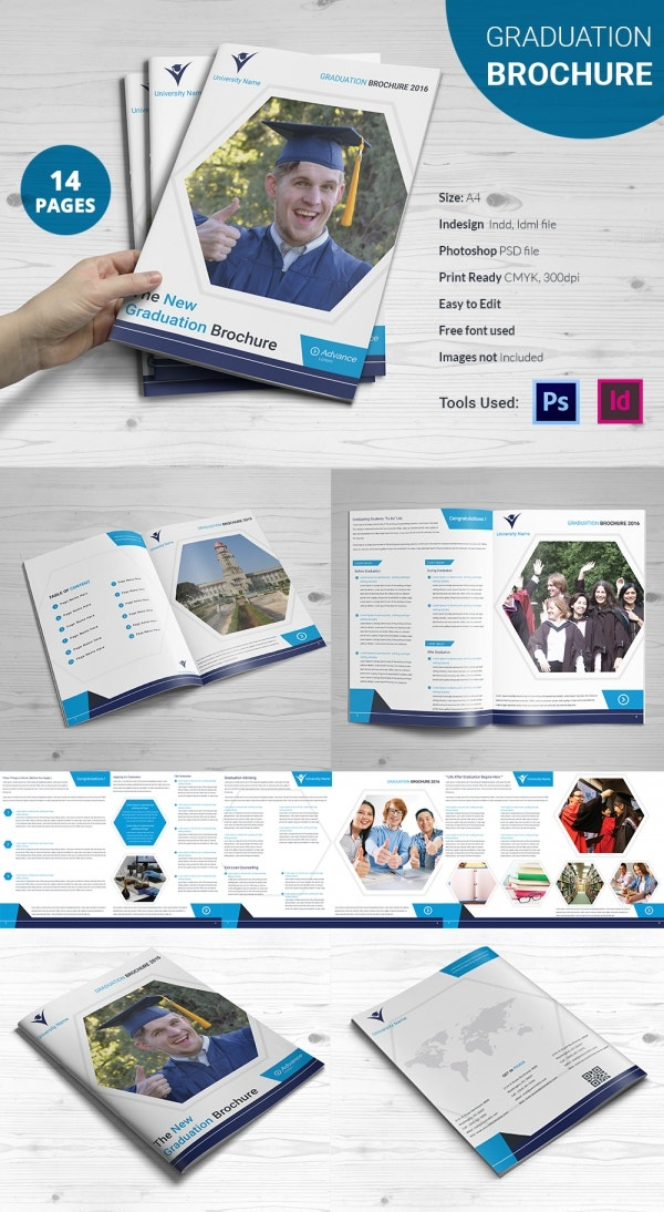 graduation brochure templates - 14 graduation brochure templates free psd eps