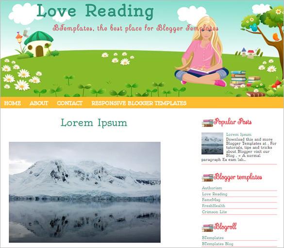 excellent floral blogger template