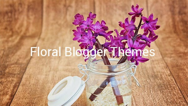 floral blogger themes