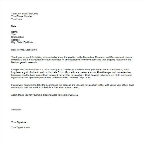 interview thank you email template 6 free sample example format