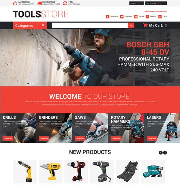 industrial contractor tools magento theme