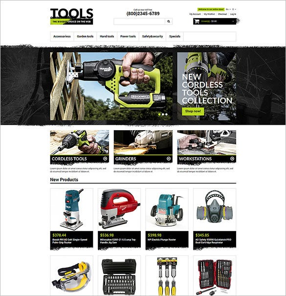 industrial tools responsive magento theme