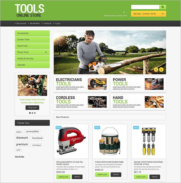 industrial tools online magento theme