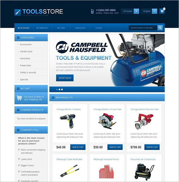 professional industrial tools magento theme