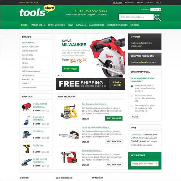 industrial tools equipment magento theme