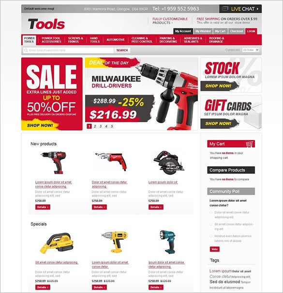 tools for industry magento theme