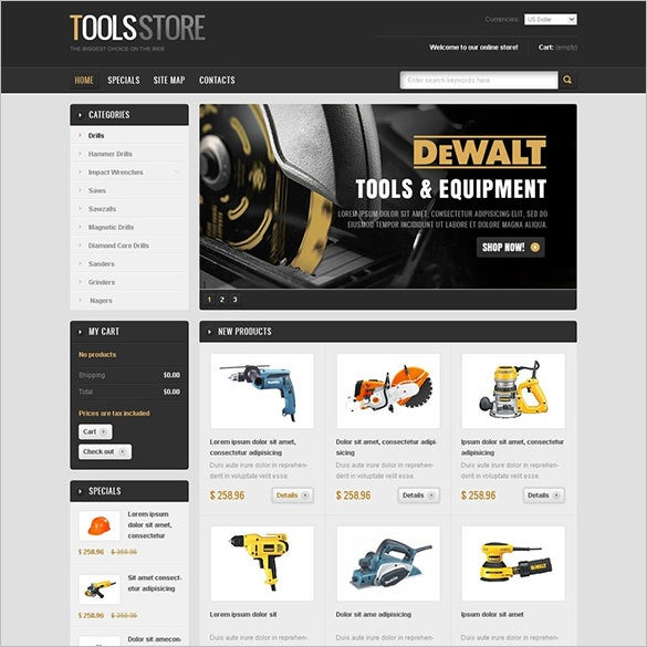 heavy industrial tools magento theme