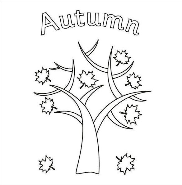 21 Fall Coloring pages Free Word PDF JPEG PNG Format