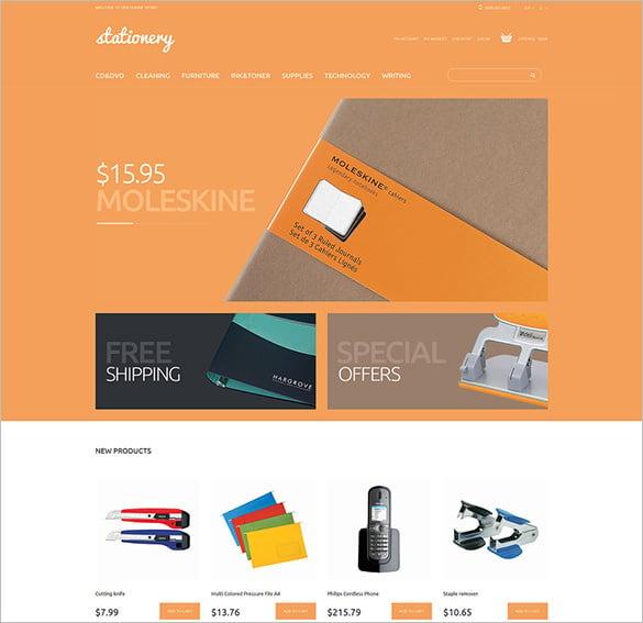 magento stationery store theme