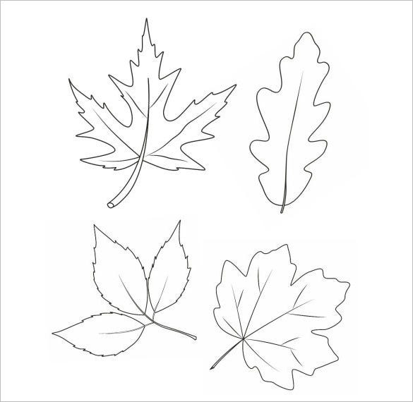 autumn leafs coloring page