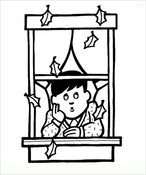 autumn days coloring page