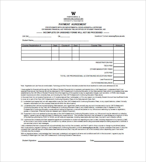 Education invoice templates 10 free word excel pdf for Tuition contract template