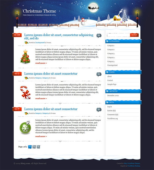 fantastic christmas wordpress theme