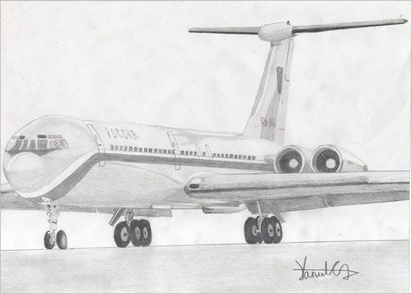 awesomr airplane drawing