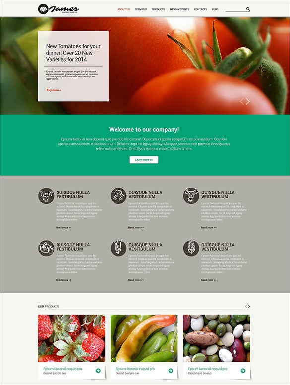 vegetable agriculture zencart website theme