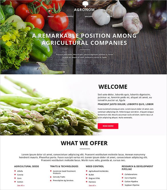 perfect agriculture zencart website template