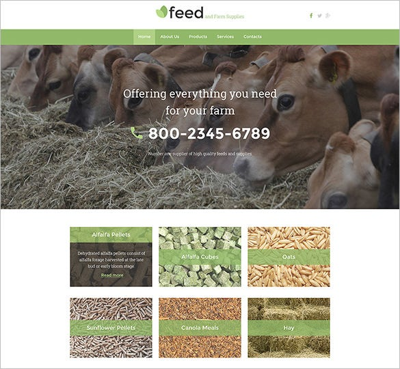 agriculture farm feed zencart website theme