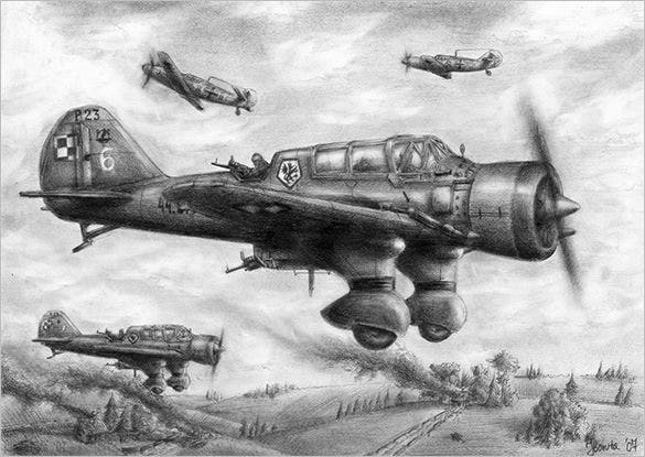 cavalry of the sky airplane drawing