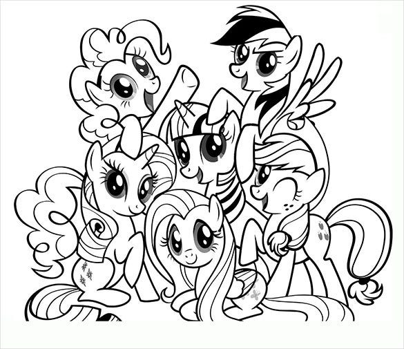 Pony group printable page