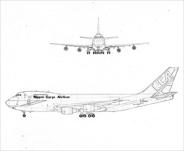 17 Best Airplane Drawings To Download Free Premium Templates