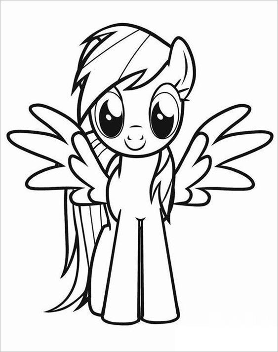 pony baby coloring page